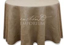 Hessian/ Burlap Round Table Cloth for Hire