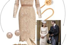 Catherine Middleton Inspired Champagne Lace Dress