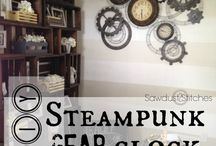 Steampunk decor for downstairs