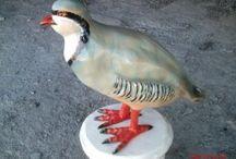 Tavus Kuşu ,Keklik Ve Kuş Heykeller