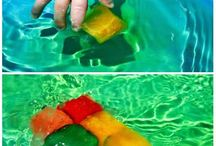 Summer food / Coloured ice cubes