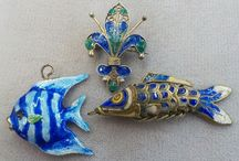 Vintage Jewerly Chinese Export Silver Enamel / by Vintage House Boutique