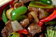 Spicy green pepper and beef stir fry