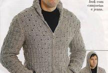 Casacos e blusas de tricô e/ou crochê