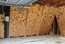 Home Climbing Walls / Your own private gyms in your backyard, garage, or wherever you built it!