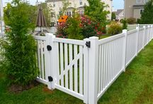 Vinyl Fences / A maintenance-free fence designed to replicate the appearance of real wood.