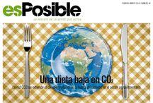 revista esPosible nº 40, febrero-marzo 2014. Una dieta baja en CO2 / revista esPosible, cambio climático, huella de carbono