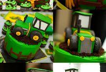 Торты в виде трактора