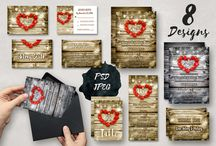 Printable Greeting Cards and Ivitations / Instant download printable greeting and invitation cards