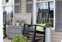 Outdoor Spaces- Porch and Patio / Outdoor sanctuaries, spaces, patios, and porch love.