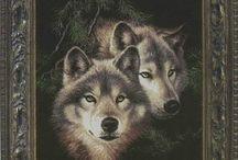 borduren wolven