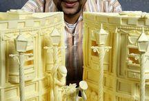 Escultura mantequilla