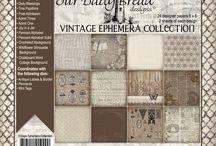 ODBD Vintage Ephemera Paper Collection