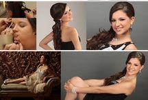 Proceso. / Proceso de maquillaje, peinado y fotografías con Estudio Montes.