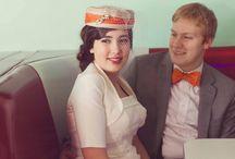 Retro and Vintage Diner Bridals