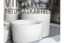 Concrete living / Application ideas for micro cement // Mikrosementin käyttöideoita