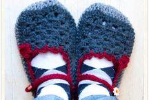 Scarpe, calze crochet