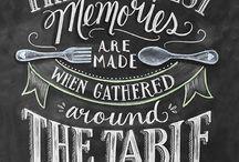 Chalkboard memories / Chalkboard sayings