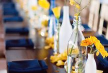 Table center pieces / Yellow