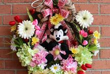 Pepe Le Pew Valentines Wreaths, by Irish Girl's Wreaths