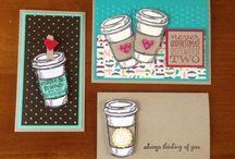 Handmade Cards- Coffee Theme / Coffee themed cards