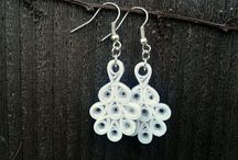 Bridal Jewelry & Accessories / Bridal jewelry, wedding jewelry, bridal earrings, bridal necklaces, bridal pendants, bridal accessories. Wedding jewelry, wedding earrings, wedding necklaces, wedding pendants, wedding accessories. Paper quilled wedding, paper quilling wedding, paper quilled bride, paper quilling bride, paper quilled bridal, paper quilling bridal. Sweethearts and Crafts