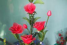 Nylonové květy