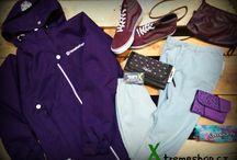 Dámské sety / Kolekce pro dámy - bundy, mikiny, trička, kalhoty, boty, tašky, kabelky, batohy....,