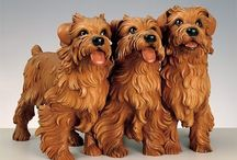dog carvings
