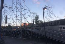 Montaje Escenarios Fiestas de Móstoles / Montaje de escenarios en la Plaza del Pradillo para las fiestas de Móstoles del 11 al 16 de septiembre para la actuación de grandes artistas como In Vivo