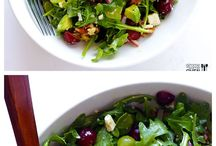 Grape, Avocado & Arugula Salad -