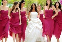 Bridesmaid dresses / Raspberry wedding