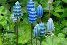 dekoracja ogrodowa  ceramiczna