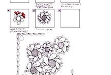 Tuintjes tangelen / Hier vind je inspiratie en tangles zodat jij jouw eigen Zentangle tuintjes kunt vormgeven.