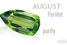 AUGUST BIRTHSTONE - PERIDOT / The birthstone of August!