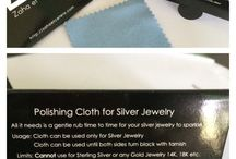 Silver jewelry Maintenance / Polishing cloth for silver jewelry