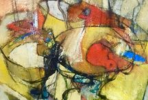 Mixed media paintings