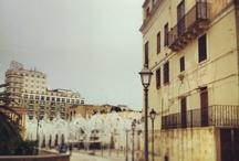 Sul set in Puglia