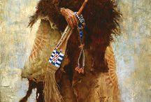 Native amaerican art/illustrations: Howard Terpning