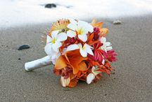 Bridal Bouquets   White & Orange