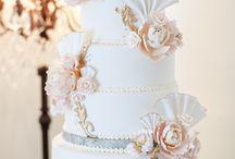 Cakes using jeweled, sparkle  ribbon
