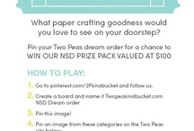 2Peasinabucket.com NSD Dream order / by Lydia Smith