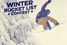 Winter Bucket List / Want to win a $2000 adventure, a new iPhone 6 and a LifeProof prize pack? Enter our Winter Bucket List Contest! Visit our blog for more details: http://www.lifeproof.com/blog/2014/12/lifeproof-winter-bucket-list-contest/ / by LifeProof