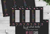 LuLaRoe My Size Cards