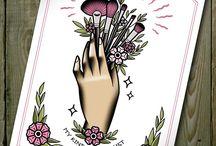 Make up tattoo
