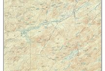 """New York Adirondack Lakes / These are old composite maps of New York Adirondack Lakes custom made out of one or more USGS """"quads"""".   We add a border and a title to make the maps more attractive.  These are available from our website in different sizes and prices.  We emphasize common frame sizes but they can be customized as the buyer desires--e-mail us if you don't see what you want!"""
