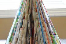 DIY: Con papel, periódicos, revistas o cartón / DIY: With paper, news and magazines