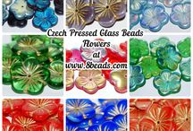 Czech Pressed Glass Beads / All of our pressed glass beads