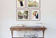 Wedding photo living room
