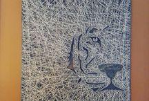 İp çivi sanatı